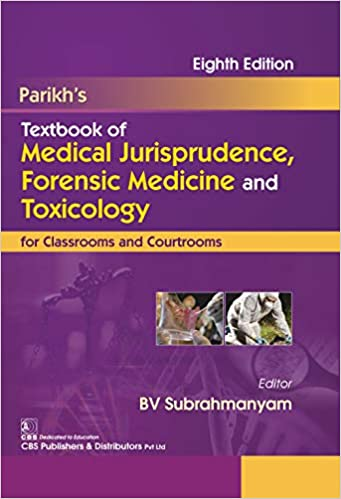 Parikh's Textbook of Medical Jurisprudence, Forensic Medicine and Taxicology 8th Edition PDF